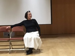 rehearsal pic of The Cause, at Dartington photo by Natalie McGrath